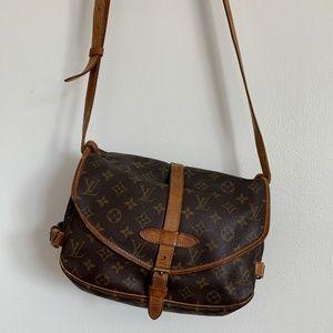 Vintage Louis Vuitton double-sided satchel